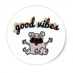 good vibes pug